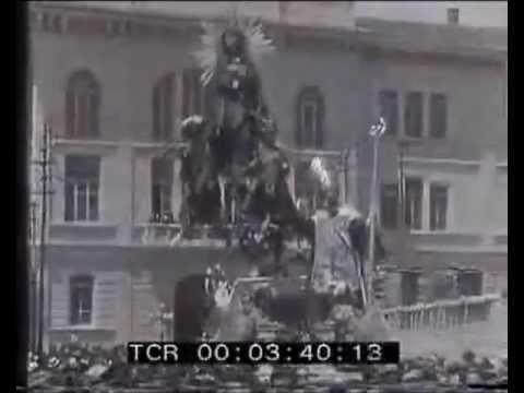 La processione dei Misteri a Campobasso nel 1929.