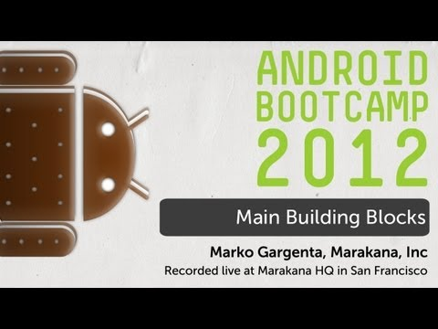 04 - Main Building Blocks: Android Bootcamp Series 2012
