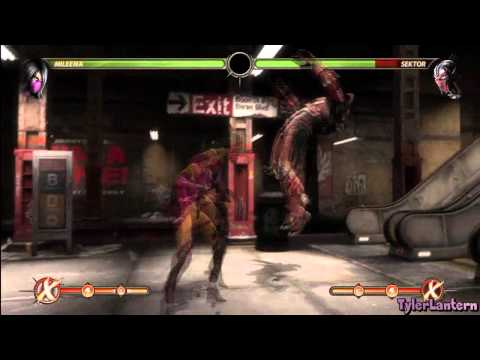 MK9 - Mileena Combo Compilation - Mortal Kombat 9 (2011)
