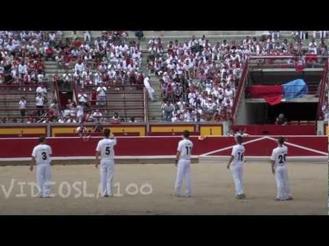Finalistas concurso de recortes con toros pamplona 2012