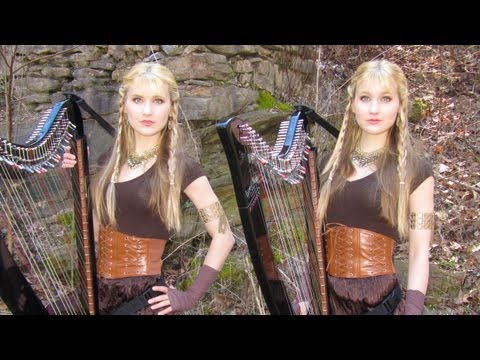 The Rains of Castamere - Game of Thrones (Harp Twins) Camille and Kennerly