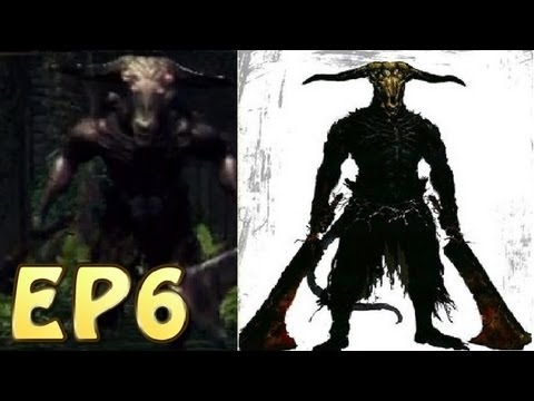 Dark Souls Walkthrough - Capra Demon Kill & Into The Depths (EP6)