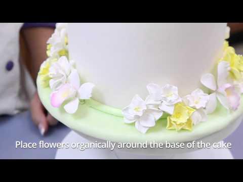 How To Make a Daffodil Cake    Fast & Fabulous   Global Sugar Art