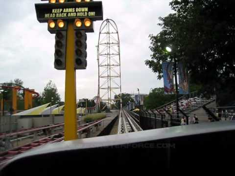 Top Thrill Dragster Front Seat on-ride POV Cedar Point