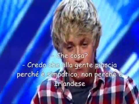 One Direction: provini per X Factor di Niall Horan (sub.ita) sottotitoli italiano