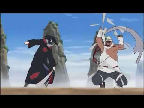 Sasuke vs Killer Bee [full fight] HD