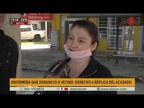 Vecino acusado por enfermera: