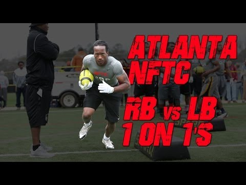 "Atlanta RB vs LB ""Cat & Mouse"" Drill 