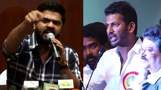 Watch Vishal Answer for Simbu - Real Fight - Nadigar Sangam Election Issue Red Pix tv Kollywood News 09/Oct/2015 online