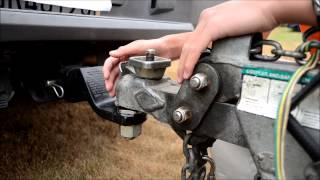 How to take off trailer from car or truck (UHaul trailer)