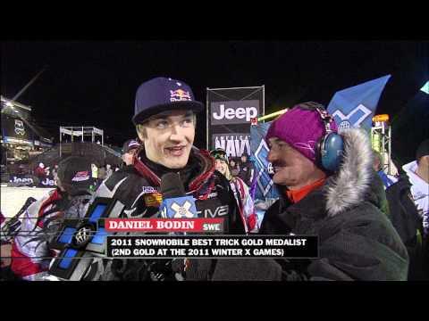 Winter X Games 15 - Daniel Bodin Gold Medal Snowmobile Best Trick