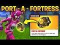 "Fortnite ""PORT A FORTRESS"" NEW ITEM UPDATE! - BUILD A BIG FORT ANYWHERE! (FORTNITE BATTLE ROYALE)"