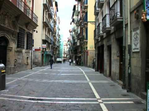 El recorrido del encierro de San Fermín en Pamplona