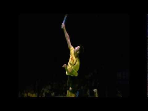 Badminton Jumping Smash Wallpaper hd Badminton Lin Dan Jump Smash