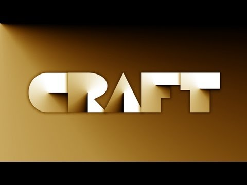 Papercraft Text Effect | Photoshop CS5 Tutorial