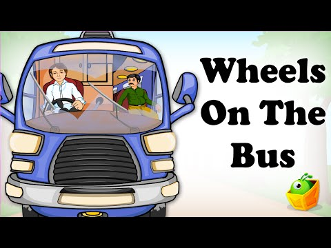 Wheels on the Bus - English Cartoon Nursery Rhymes