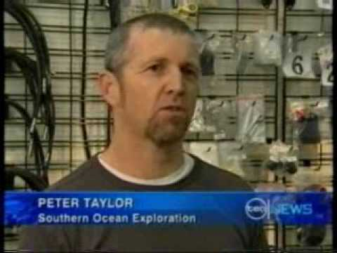 Channel 10 News broadcast about Southern Ocean Exploration finding the SS Alert