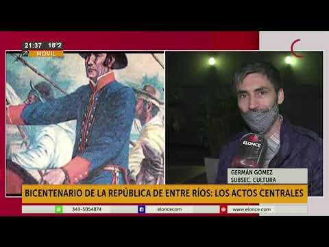 Bicentenario de la Republica de Entre Ríos: Los actos centrales