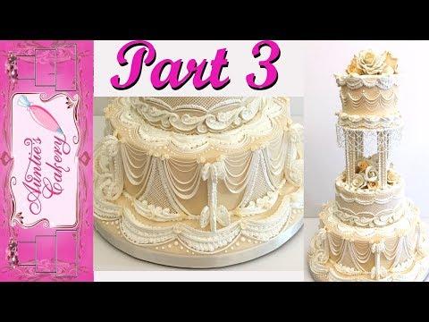 Part 3-Lambeth Wedding Cake Tutorial- Bottom Tier