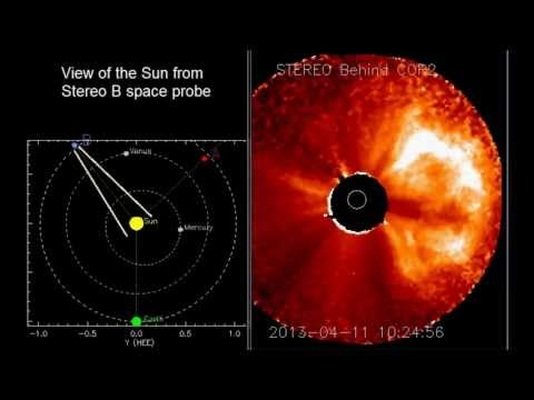 ALERT eruption towards Earth - M6.5 class solar flare on sunspot 1719 (April 11, 2013) - Video vax