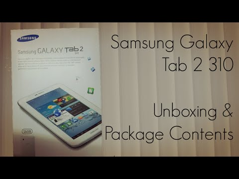 Samsung Galaxy Tab 2 310 Unboxing & Package Content