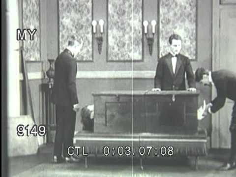 Vintage Silent - Sawing a Woman in Half Magic Illusion Explained