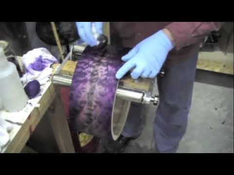 Burst dye finish applied to a quilted solid maple drum shell
