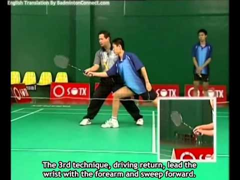21 Chen Weihua Badminton Training - Forehand Smash Return (English Subtitles)