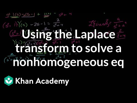 Using the Laplace Transform to solve a nonhomogenous eq