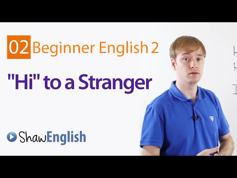 Greeting A Stranger in English