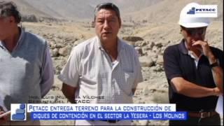 PETACC hizo entrega de terreno para creación de diques en Quebrada La Yesera