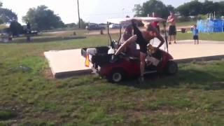 Jumping Over a Golf Cart