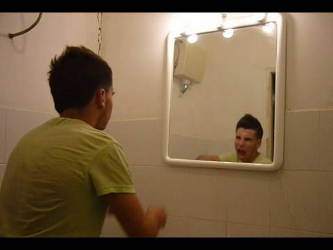 Scary video - Creepy grudge ghost in a cursed mirror