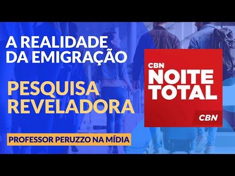 CBN Noite Total - Professor Marcelo Peruzzo - Emigração