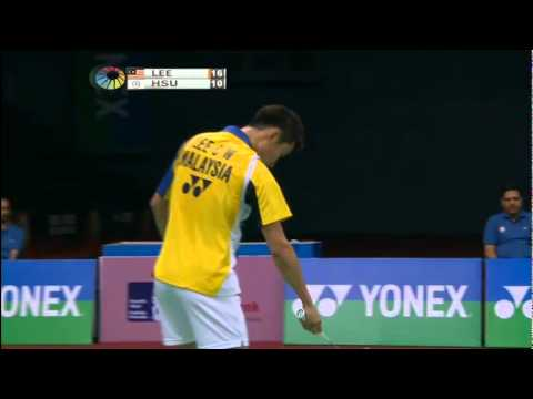 SF - MS - Lee Chong Wei vs Hsu Jen Hao - 2012 Yonex-Sunrise India Open