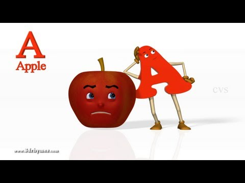 A for Apple 2 - 3D Animation Learning ABC Songs for children