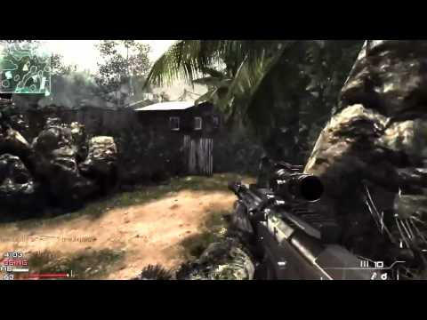 MW3 Gameplay - Quick Scoping L118A - AS50 - Barrett - 50cal