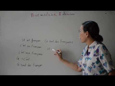 Bài 9: Động từ être và các danh từ về cư dân các nước - verbe être (suite)