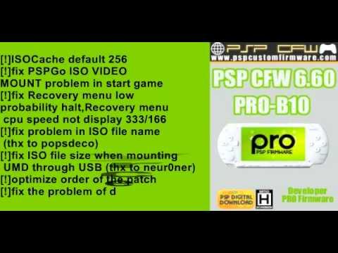 PSP CFW 6.60 PRO-B10