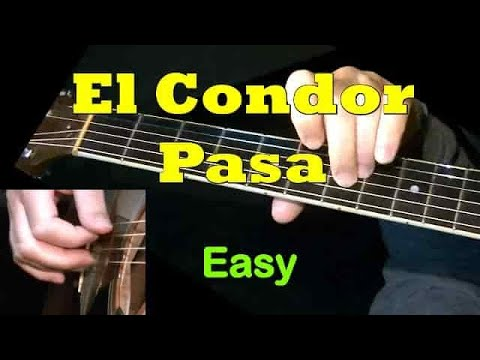 El Condor Pasa - Guitar lesson WITH TAB! Easy for beginners - Learn how to play