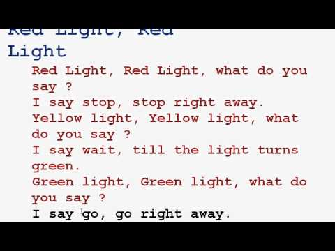 Red light red light rhyme