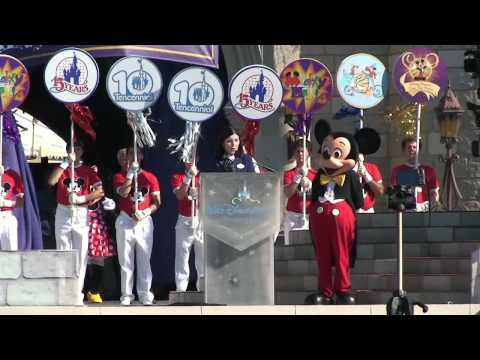 Walt Disney World 40th Anniversary Celebration, Full Presentation, Magic Kingdom 10/1/11