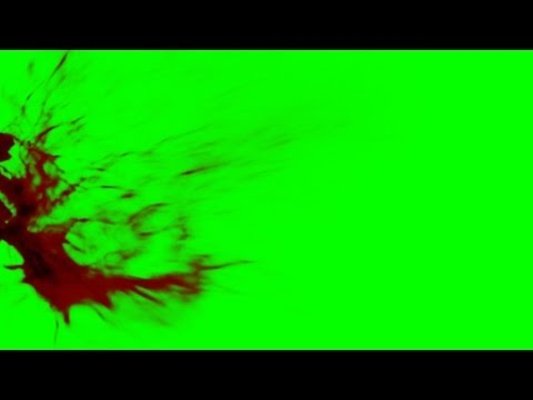Blood Splatter II - free green screen