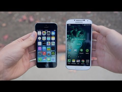 Apple iPhone 5s vs Samsung Galaxy S4!