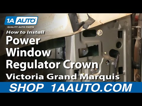 How To Install Replace Power Window Regulator Crown Victoria Grand Marquis 92-11 1AAuto.com