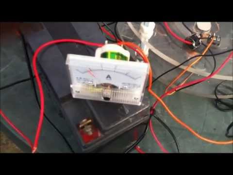 free energy device self running powering lightbulb - RomeroUK Muller Motor - Generator