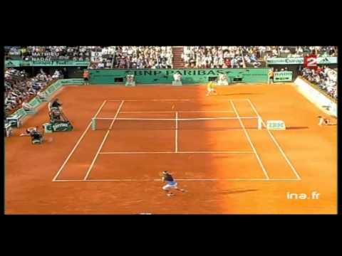 Highlights Nadal / Mathieu - Roland Garros 2006 (HD)