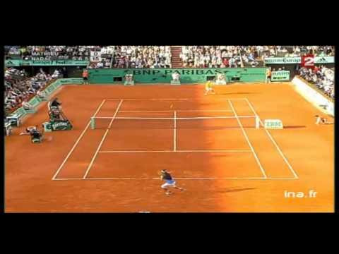 Highlights Nadal / Mathieu - Roland Garros 2006 (HD)