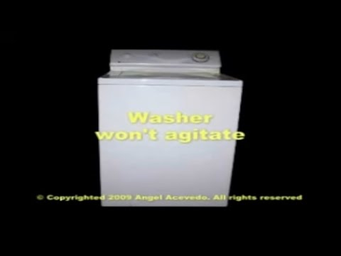 Maytag top load washer not agitating