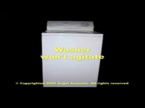 Maytag top load washer not agitating